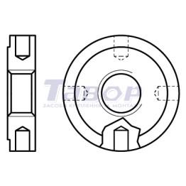 Гайка кругла з радіальними отворами і мілкою різьбою