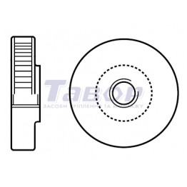 Гайка кругла рифлена (з накаткою) низька нажимна