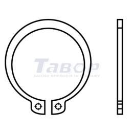 Кільце стопорне зовнішнє для валу, нормальне виконання, форма А