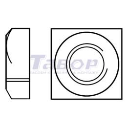 Гайка квадратна  з фаскою класу С