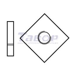Гайка квадратна без фаски  низька класу В
