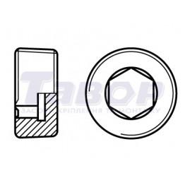 Пробка гвинтова з внутрішнім шестигранником з дюймовою різьбою UNC