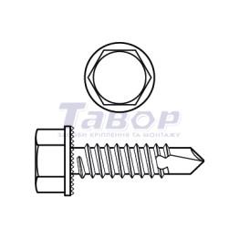 Самонаріз TEX для кріплення металу з свердлом