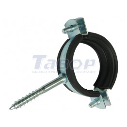 Хомут для труб з гумовою прокладкою Хомут для труб з гумовою прокладкою із саморізом