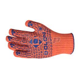 Рукавиці трикотажні з ПВХ малюнком Універсал помаранчеві
