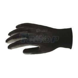 Рукавиці робочі нітрилові з обливною долонею чорні