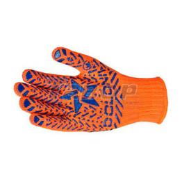 Рукавиці трикотажні з ПВХ малюнком Зірка оранжеві