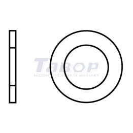 Шайба кругла звичайна з фаcкою