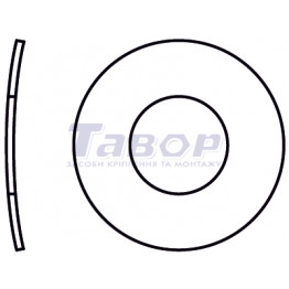Шайба пружинна вигнута, форма А