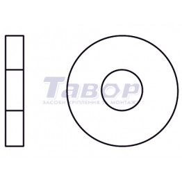 Шайба кругла збільшена кузовна зовнішній діаметр близько 3d, поліамід