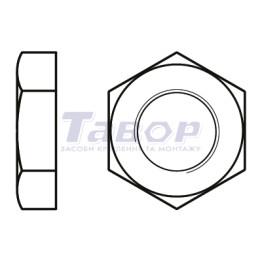 Гайка шестигранна низька з фаскою із лівою різьбою