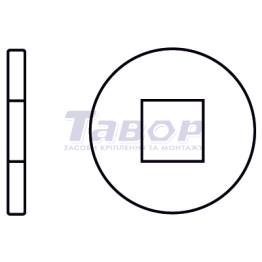 Шайба кругла для дерев'яних конструкцій із квадратним отвором