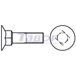Болт меблевий з потайною головкою і високим чотиригранним підголовником