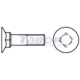 Болт меблевий з потайною головкою і низьким квадратним підголовником