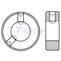 Кільце установче сталеве, форма А, без установчого гвинта