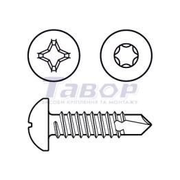 Cамонаріз, циліндрична головка з буром, для металу