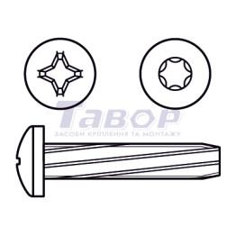 Гвинт самонарізний з хрестоподібним шліцом, форма А – півкругла головка