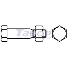 Болт з шестигранною головкою і гайкою для сталевих конструкцій