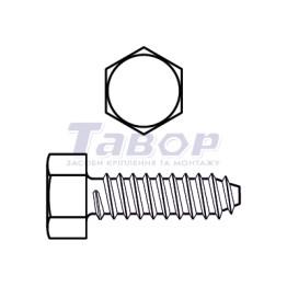 Самонаріз для тонких металевих листів, шестигранна головка, форма F - із притупленим кінцем