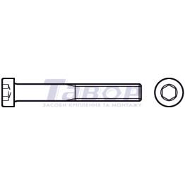 Болт з циліндричною головкою і внутрішнім шестигранником під ключ, головка зменшеної висоти