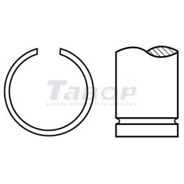 Кільце стопорне пружинне зовнішнє з дроту, форма А для валів