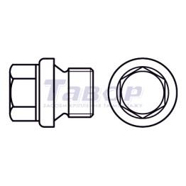 Гвинт-пробка нажимний з фланцем з шестигранною головкою