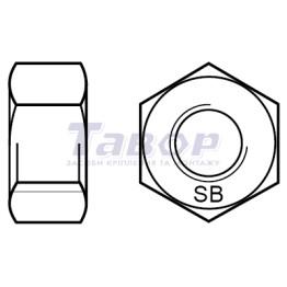 Гайка шестигранна з метричною різбою SB