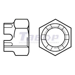 Гайка шестигранна прорізна та корончата