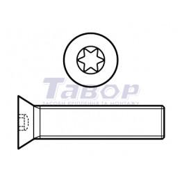 Гвинт із потайною головкою, хрестоподібний шліц (Torx)