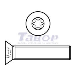 Гвинт з потайною головкою із шліцом [Torx]