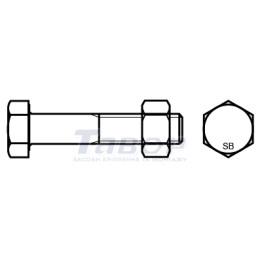 Болти з шестигранною головкою та частковою різьбою SB
