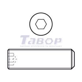 Гвинт установчий із внутрішнім шестигранником і плоским кінцем