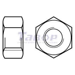 Гайка шестигранна з метричною різбою