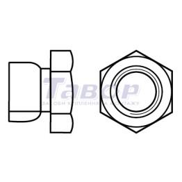 Гайка шестигранна відривна антивандальна