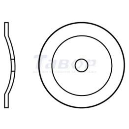 Шайба кругла толева