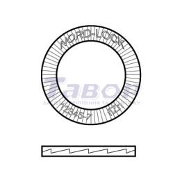 Шайба стопорна парна для металоконструкцій NORD-LOCK SC HV