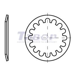 Шайба стопорна тарільчата пружинна для підшипників із зубцями