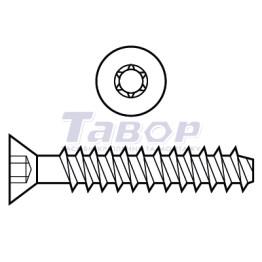Шуруп для термопластика потайна головка Torx TN 1656