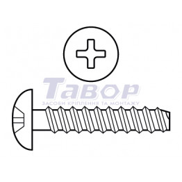 Шуруп для термопластика напівкругла головка TN 1656