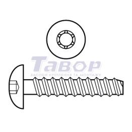 Шуруп для термопластика напівкругла головка Torx