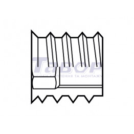 Пробка меблева двохгвинтова до дерева із внутрішнім шестигранником