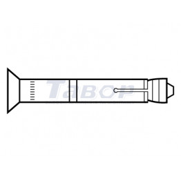 Анкер однорозпірний високоефективний з потайною головкою Fischer FH II-SK