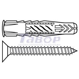 Дюбель універсальний з кромкою і шурупом Fischer UX R S