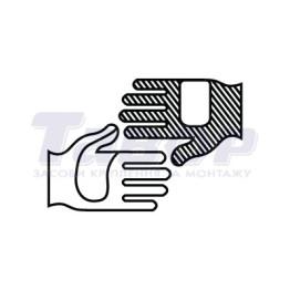 Рукавиці трикотажні з ПВХ малюнком Зірка чорні