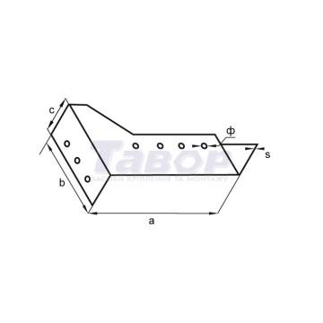 Кріплення балки розсувне ліве
